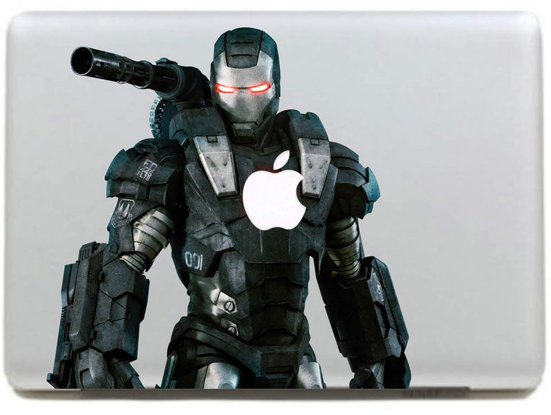 Heavily armed Iron Man Vinyl Decal Sticker for New Macbook Pro / Air 11 13 15 Inch Laptop Case Cover Sticker