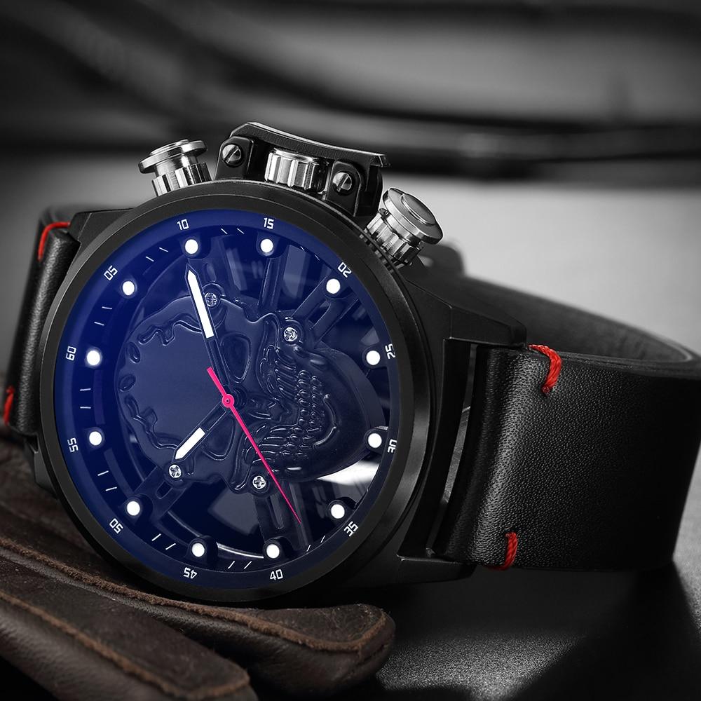 Skull skeleton watch men sport mens relojes top brand luxury 2018 - Relojes para hombres - foto 2