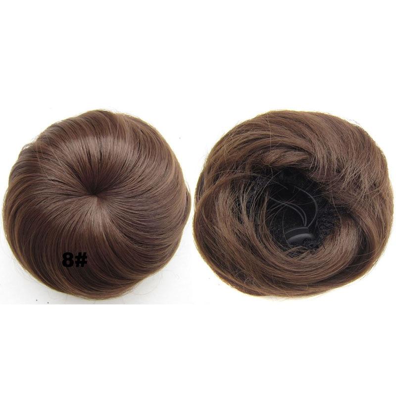 jeedou pelo sintético pelo rubio rubio color de la mezcla 30g bollo - Cabello sintético - foto 6
