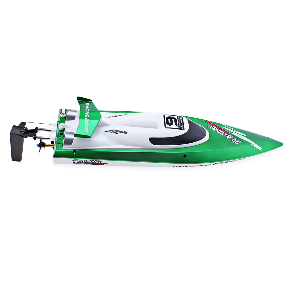 FeiLun FT009 RC Boat with Transmitter 2.4G RC Racing Boat High Speed Yacht RC Boats with Anti-crash Cover Kids Xmas Gifts feilun ft009 2 4g 4ch water cooling high speed racing rc remote control boat