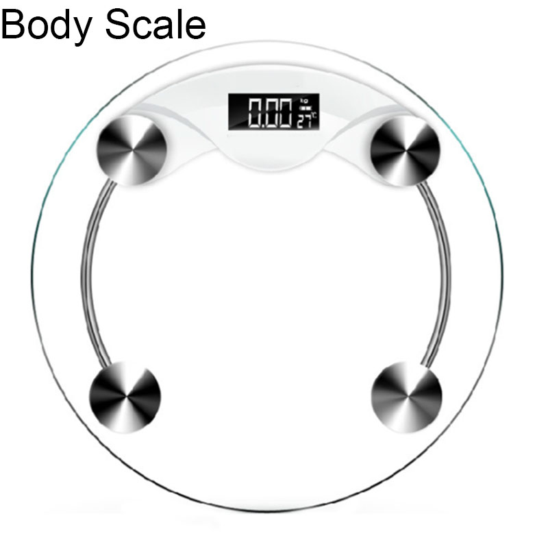 180KG Mini Tempered Glass Personal Body Weight Scale Bathroom scales body High Accuracy Digital Step-On Technology
