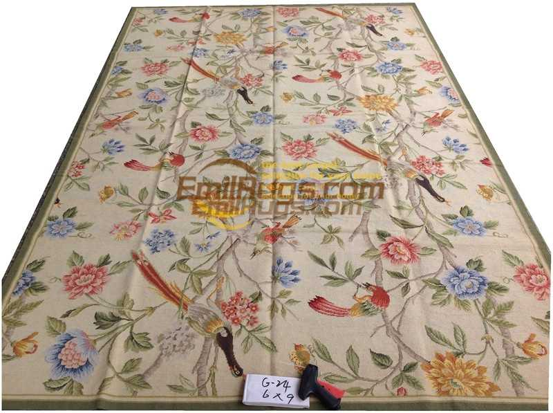 The Old European Needle-point Rug The Worn Country Home Chess Rug Various Flower Decorative Needlepoint Knitted Museum