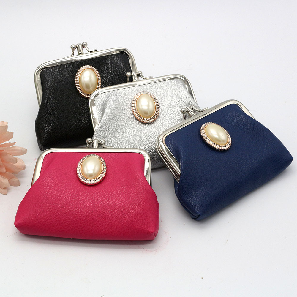 PACGOTH 2018 Creative Double Layer Pu Leather Coin Purse Small Fresh Candy-Colored Girls Mini Wallet & Card Holders Gemstone 1PC