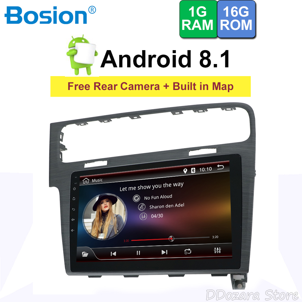 "10.1"" Android Car DVD Multimedia Player GPS For Volkswagen Golf 7 2013 2014 2015 audio car radio stereo navigator bluetooth"