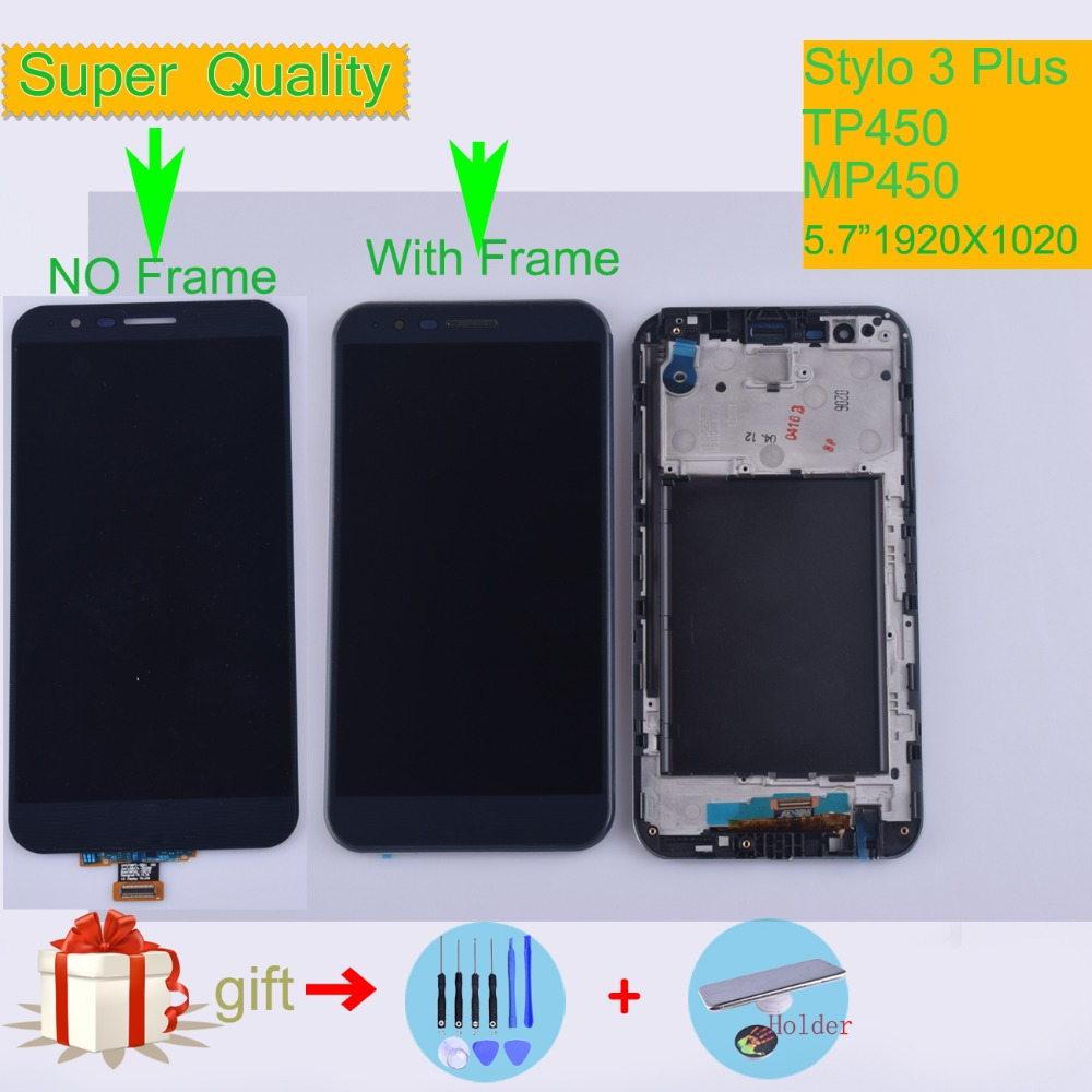 Original For LG Stylo 3 Plus TP450 MP450 LCD Display Touch Screen Digitizer With Frame Assembly For LG LS777 Plus ScreenOriginal For LG Stylo 3 Plus TP450 MP450 LCD Display Touch Screen Digitizer With Frame Assembly For LG LS777 Plus Screen