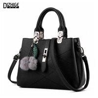 DIZHIGE Brand 2016 Fashion Fur Bags Handbags Women Famous Designer Women Leather Handbags Luxury Ladies Hand