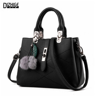DIZHIGE Brand 2016 Fashion Fur Bags Handbags Women Famous Designer Women Leather Handbags Luxury Ladies Hand