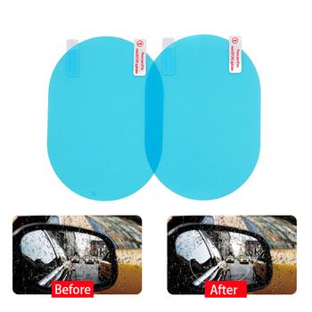 2 sztuk para samochodów naklejki przeciwmgielne lusterko samochodowe okno przezroczysta folia Anti Fog lusterko wsteczne samochodu folia ochronna wodoodporna przeciwdeszczowa tanie i dobre opinie Folie okienne i ochrona słoneczna 80 -100 Car Rearview Mirror Protective Film 14 5 Zestaw