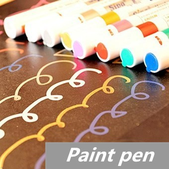 40 pcs/Lot Paint pen marker Highlighter pen for album foto scrapbooking Liquid chalk pen Novelty Stationary School supplies touchnew 60 colors artist dual head sketch markers for manga marker school drawing marker pen design supplies 5type