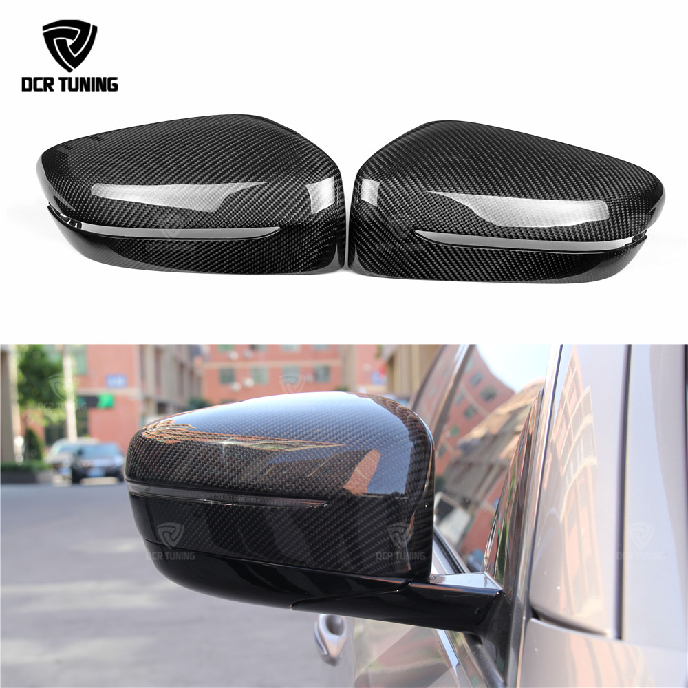 Carbon Fiber Rear View Mirror Cover For BMW 5 Series G30 G38 M Performance 6 Series GT G32 2018+ 7 Series G11 2017+ ONLY LHD yandex w205 amg style carbon fiber rear spoiler for benz w205 c200 c250 c300 c350 4door 2015 2016 2017