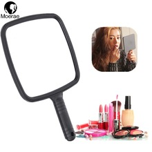 Hot Sale Big Size Vintage Cosmetic Mirror Plastic Makeup Mirror Hand Shank Mirror For Home Hand Mirror