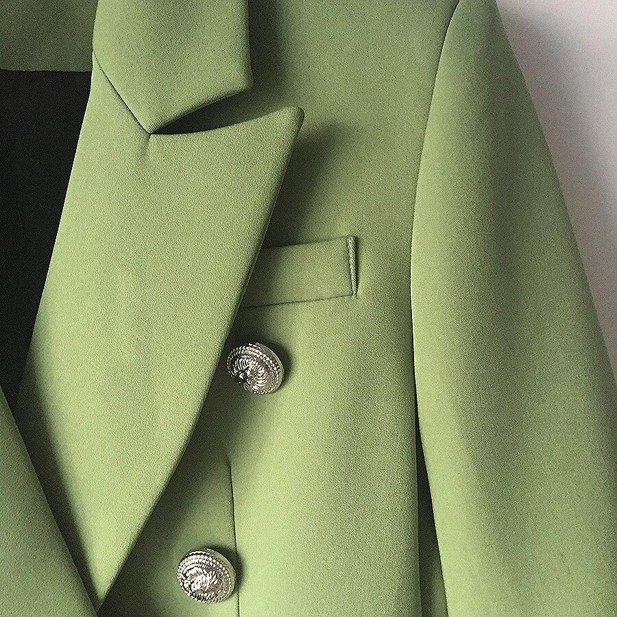 Del Doppio 2018 Metallo Blazer Modo Lion Petto Verde Cappotto Txq1545Z
