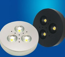 Dimmable 4W/3W/1W LED Under Cabinet Lighting  Super Bright Puck Lights Counter AC85V-265V For Home/Office
