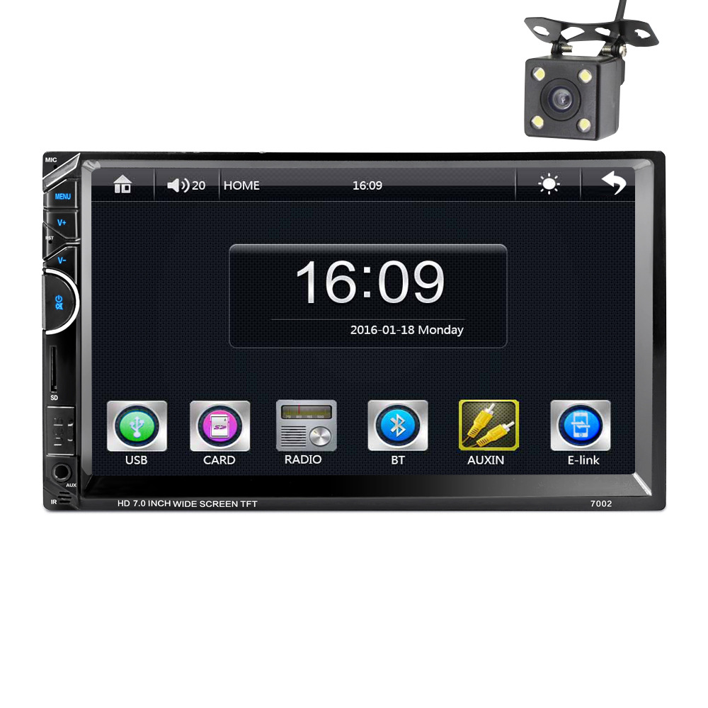 2017 Professional 7 Inch Car MP5 Player DVD Video steering-wheel 2 Din With AM+RDS+ Mobile Phones Internet+reversing the camera 2 din car radio mp5 player universal 7 inch hd bt usb tf fm aux input multimedia radio entertainment with rear view camera