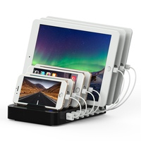 60 W 2.4A מטען תחנת טעינה & ארגונית רכזת USB 7 יציאות תשלום מהיר עבור iPhone iPad סמסונג HTC טבליות USB נסיעות התקנים