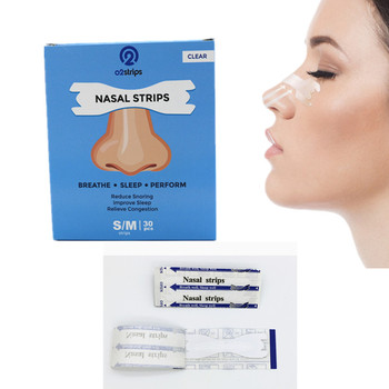 30boxes=900pcs Factory Price Anti Snoring Nasal Strips 66x19mm for Better Breathe Reduce Snoring Sleep Aid Health Sleeping