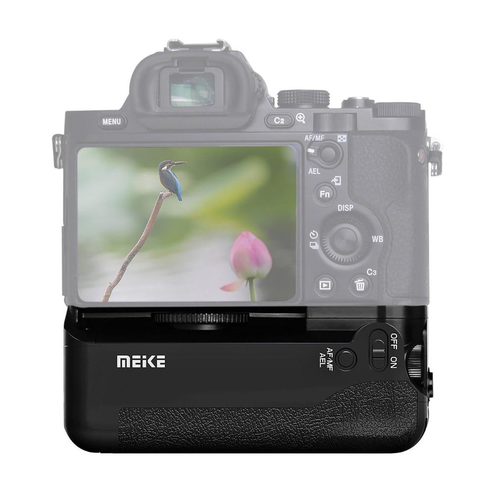 Meike MK-A7 Batterie holder Grip pour Sony A7 A7r A7s comme VG-C1EM Caméra pour deux NP-FW50 batterie