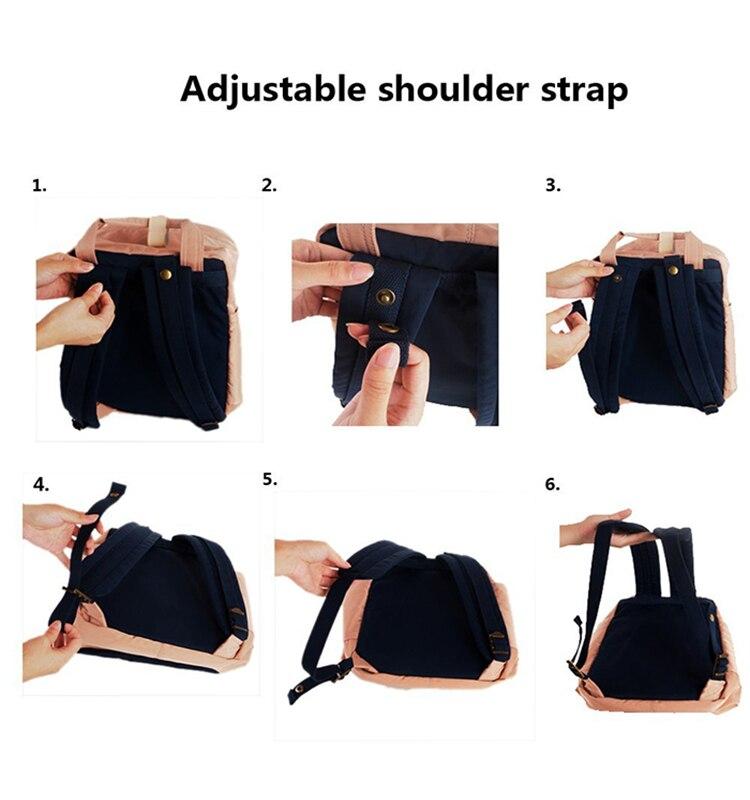 Image 5 - Himawari Brand Cute Nylon Backpacks Travel Bag Women Waterproof  Laptop Backpack Large Capacity Mummy Bags Mochila School Bag  no1backpack waterproofbackpack largeschool backpack
