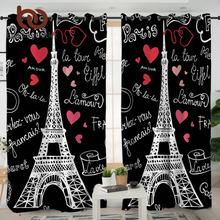 BeddingOutlet France Paris Tower Living Room Curtains Romantic Letters Decorative Curtain for Bedroom Window Treatment Drapes