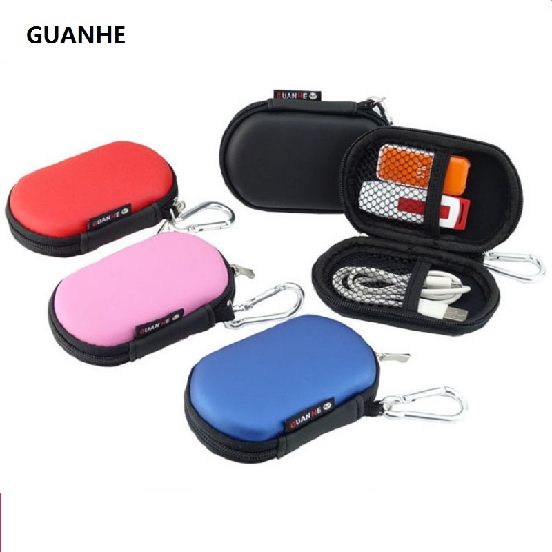 GUANHE Mini Electronics Cable Packing Organiser Hard Shell Accessories Pouch Case USB Drive Shuttle Carry Case