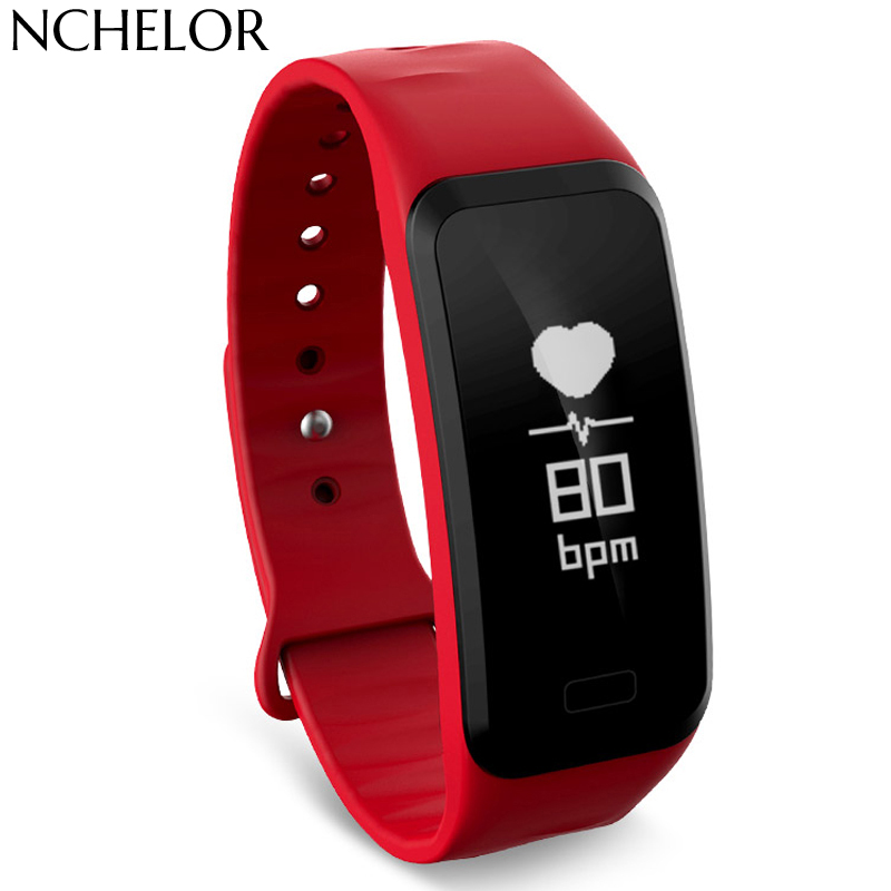 Smartband C1s Smart armband Hartslag bloeddruk stappenteller Smart - Herenhorloges