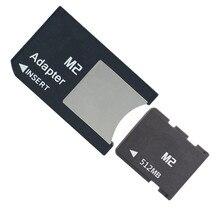 10 قطعة/الوحدة 64 ميجابايت 128 ميجابايت 256 ميجابايت 512 ميجابايت M2 بطاقة الذاكرة عصا الذاكرة مايكرو مع M2 بطاقة محول MS PRO DUO