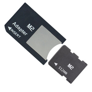 Image 1 - 10pcs/lot 64mb 128mb 256mb 512mb M2 memory card Memory Stick Micro with M2 Card Adapter MS PRO DUO