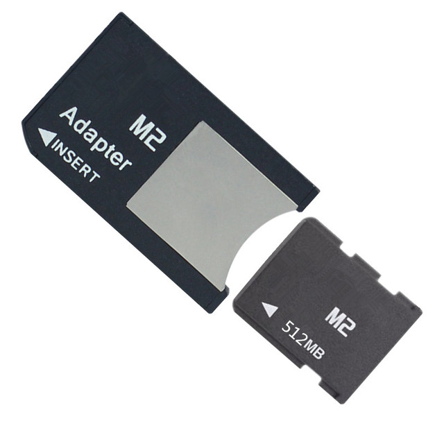 10pcs/lot 64mb 128mb 256mb 512mb M2 memory card Memory Stick Micro with M2 Card Adapter MS PRO DUO