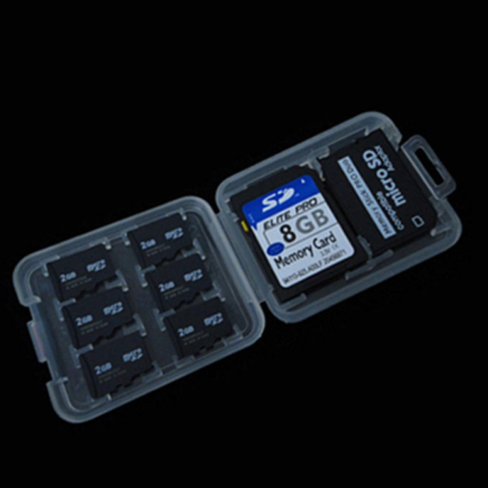 2pcs/set 8 Slots Micro SD TF SDHC MSPD Memory Card Protecter Box Storage Case Holder Plastic Box Storage Card Holder Case