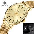 2019 Wwoor Relogio Masculino Herren Uhren Top Luxus Voller Gold Edelstahl Männlichen Uhr Mann Armbanduhr Zegarki Mens-quarz-sport-armbanduhren Meskie