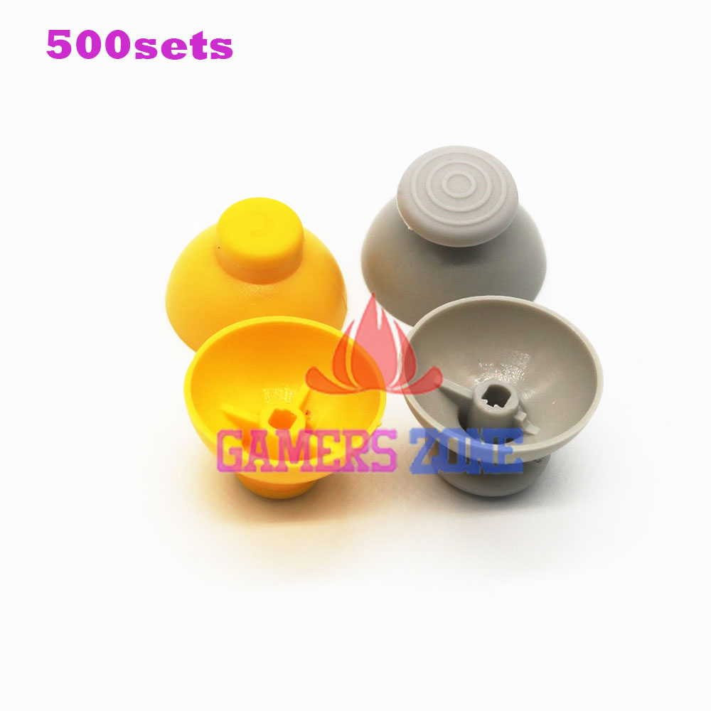 500sets Analog Thumbstick Joystick Stick Cap Caps for Gamecube NGC GC controller Left and right thumbsticks