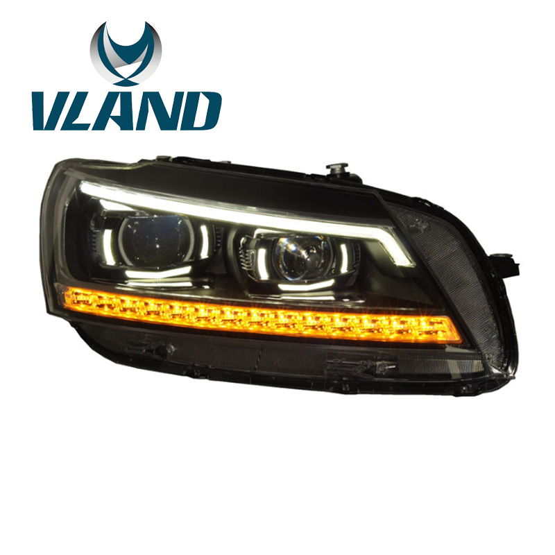 VLAND Заводская для автомобиля фара для Passat B7 2012 2013 2014 светодиодный 2015 светодиодный свет для B7 Bi-Xenon проектор Plug And Play waterproof