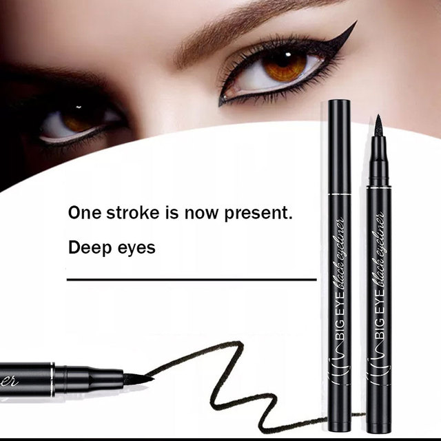 Professional Black Liquid Eyeliner Waterproof Long-lasting Make Up Women Comestic Eye Liner Pencil Makeup Crayon Eyes Marker Pen 2