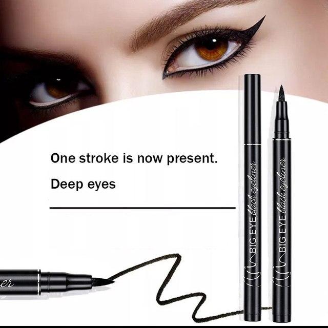 Professional Black Liquid Eyeliner Waterproof Long-lasting Make Up Women Comestic Eye Liner Pencil Makeup Crayon Eyes Marker Pen 2