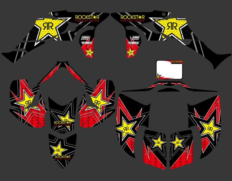 New Rockstar DECALS STICKERS Graphics Kits Fit for Honda TRX450R TRX 450R Fourtrax ATV
