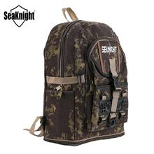SeaKnight SK006 Angeln Tasche 25L Wasserdichte Leinwand Rucksack Outdoor Angeln Beutelmultifunktionsausrüstung Tasche 34*56*13cm camouflage