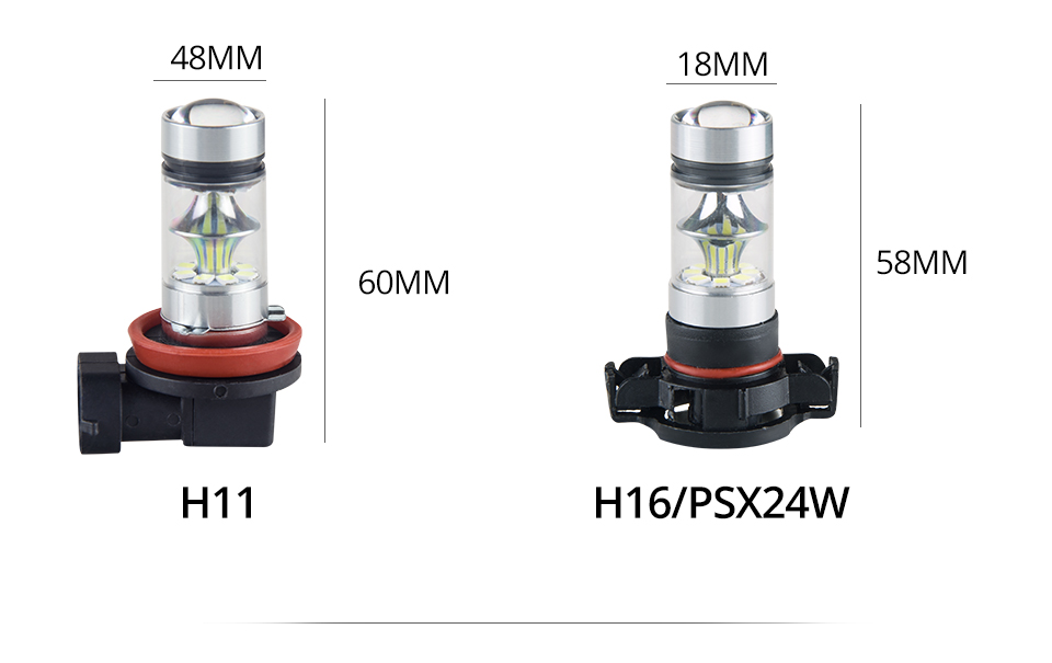 Aceersun Led H8 H11 H10 Fog light bulb 9006 HB3 9005 ATV H1 H3 1200LM 6500K 12V 24V Car Driving Daytime Running Lamp motorcycle (10)