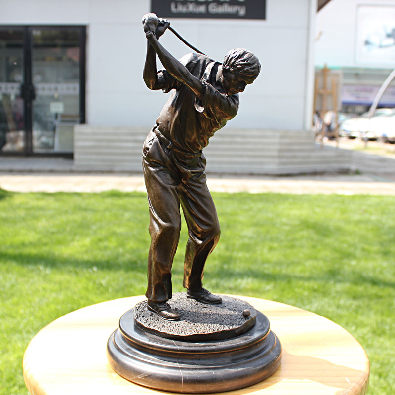 Male golf sports series of bronze sculpture like copper crafts business gift Home Furnishing decoration decorationMale golf sports series of bronze sculpture like copper crafts business gift Home Furnishing decoration decoration