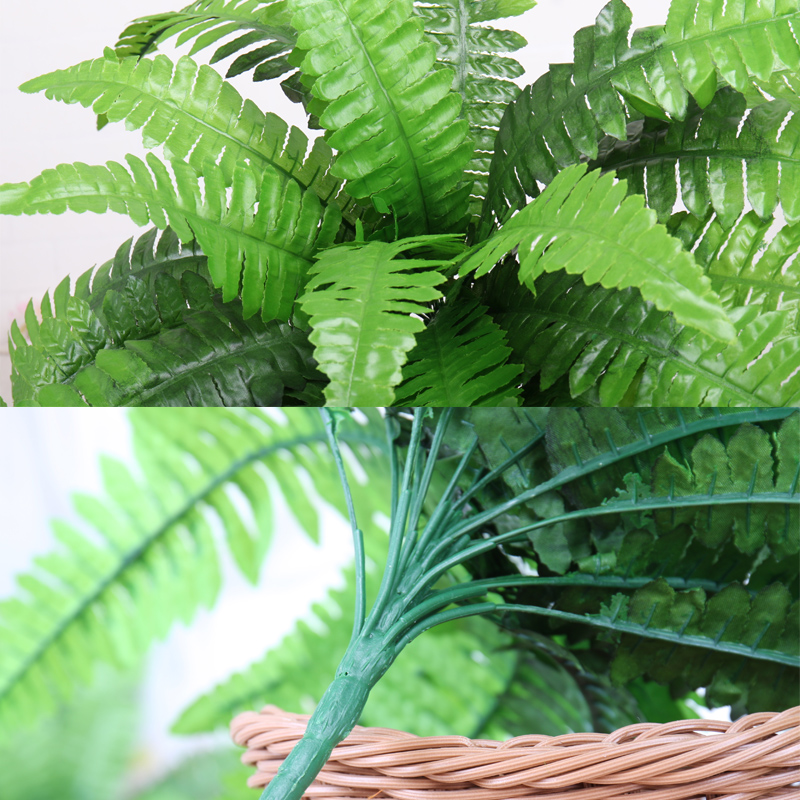 Green Artificial Plants Persian artificial potted Grass Plastic Leaves Grass artificial Grass in Pot Home Decoration Fake Wreath in Artificial Dried Flowers from Home Garden