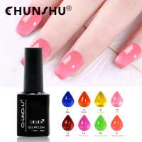 7ML Gel Nail Polish Soak Off UV Gel 16 Glass Colors Set Nail Gel Manicure Lacquer Long Lasting Varnish Nail Make Up Tool