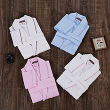 Men bathrobe cotton  men bath robe gown brand pajamas cotton terry toweling long soft white blue spring summer winter