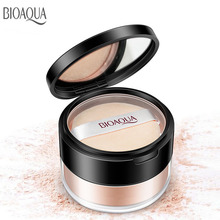BIOAQUA Loose Powder Oil Control Whitening Face Mineral Setting Foundation Brighten Concealer Base Makeup
