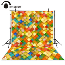 Allenjoy photo background Square lattice colorful cute children idyllic farm Camera photography backgrounds for photo studio