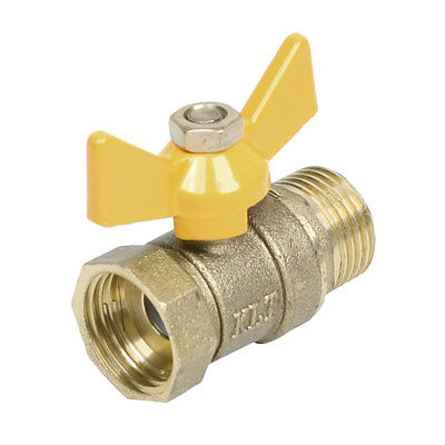 M to F 1/2PT Threaded Butterfly Handle Brass Ball Valve vertical type 1 2 pt female threaded brass tone in line check valve