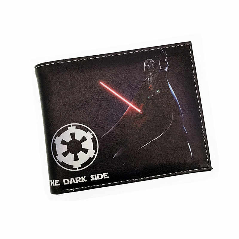 Star Wars Darth Vader Mandalorian Star Wars Storm Troops Bo Buffett Bi-Fold BB-8 Short Wallets With Card Holder Men's Purse