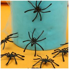 LCLL-20pc Halloween Fake Spider Joking Toy Party Prop Insects Decor