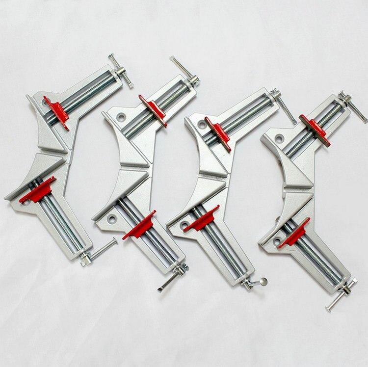 Actualizaciones espesar la aleación de aluminio ruggedized carpintería bricolaje 4 unids/set retención ángulo recto abrazadera/clip, 90 grados angular abrazadera