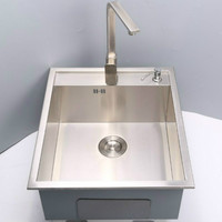 Free Shipping Standard Individuality Kitchen Mini Balcony Manual Sink Single Trough Food Grade Stainless Steel Hot