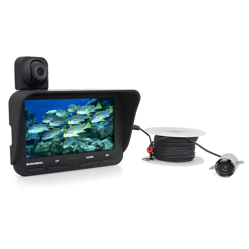 Eyoyo Visible Video Fish Finder Video Record Recording Underwater Ice Fishfinder Fishing Camera IR LED W/ DVR 20M Cable