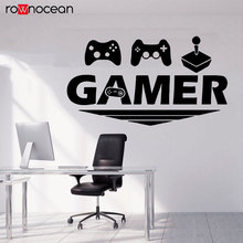 Gamer Wall Decal Decals Gaming Time Xbox Controller Personalized Room Vinyl Sticker Wallpaper 3083